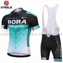 2018 BORA Cycling Jersey Maillot Ciclismo Short Sleeve and Cycling bib Shorts Cycling Kits Strap cycle jerseys Ciclismo bicicletas