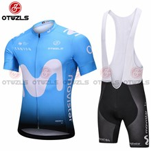 2018 MOVISTAR Cycling Jersey Maillot Ciclismo Short Sleeve and Cycling bib Shorts Cycling Kits Strap cycle jerseys Ciclismo bicicletas