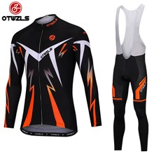 OTWZLS Cycling Jersey Long Sleeve and Cycling bib Pants Cycling Kits Strap