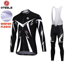 OTWZLS Thermal Fleece Cycling Jersey Long Sleeve Ropa Ciclismo Winter and Cycling bib Pants ropa ciclismo thermal ciclismo jersey thermal