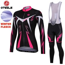 OTWZLS WOMEN Thermal Fleece Cycling Jersey Long Sleeve Ropa Ciclismo Winter and Cycling bib Pants ropa ciclismo thermal ciclismo jersey thermal