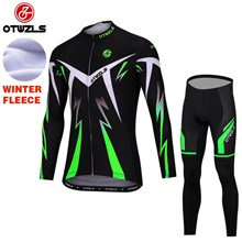 OTWZLS Thermal Fleece Cycling Jersey Ropa Ciclismo Winter Long Sleeve and Cycling Pants ropa ciclismo thermal ciclismo jersey thermal